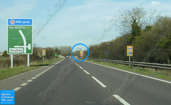 Buckden / Southoe A1 - Great North Road 60MPH SPECS speed camera in