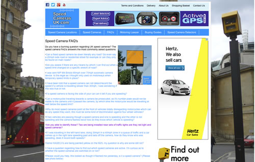 SpeedCamerasUK.com advertising example 3