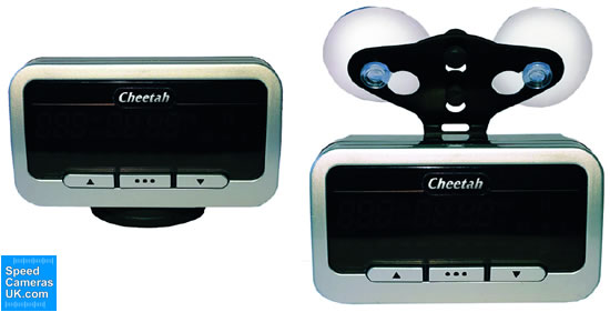 Cheetah C550 dashmount and windscreen mount options